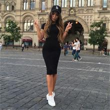 Buy #3001 Summer 2017 New Sexy Fashion New Slim Solid Color Package Hip Sleeves Women Dress High Sexy Women Long Dress for $8.75 in AliExpress store