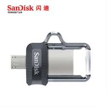 2016 best New Sandisk SDDD3 Extreme Dual OTG USB Flash Drive 64GB high speed 150M/S PenDrives 32GB USB3.0 128GB Pen Drives 16GB