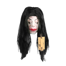 Long Hair Female Full Head Cosplay Scary Ghost latex Mask Horror Masquerade Adult Ghost Mask Halloween Costumes Fancy Dress