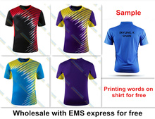 For Wholesale new badminton shirt clothes table tennis shirt tennis clothes shirt T shirt