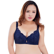 Buy Women Push Bra B C D E Cups Plus Size Lace Bras Underwire Adjustable Padded Thin Bras Big Size Brassiere lingerie 32 46 50