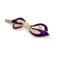 6pcs Fashion Drip Oil Hair Jewelry Accessories Bow Tie Hairpins Crystal Rhinestone Hairgrips Hair Clip Barrettes Women Gift(China)