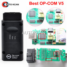 Hot Sale  Newest V5 OP COM with PIC18F458 CAN BUS OBD2 OP-COM V5 OPCOM diagnostic-tool in stock Free Shipping