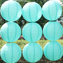 Fast shipping 10pcs/lot Tiffany blue Chinese paper lantern Home decoration Wedding decoration Hanging Lanterns wedding suppliers