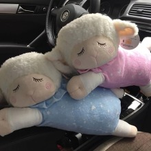 18''=46CM Sheep Plush Toys Baby Kids Sleeping Comfort Stuffed Dolls Children Gift Pink Blue Color