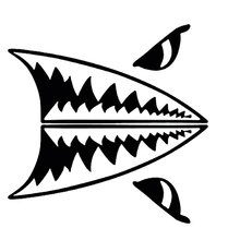 Mini Shark Teeth Great White Shark Body Decals Stickers Car Stickers(China)