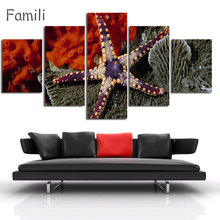 5Pcs/Set Modern Painting Home Decorative Art Picture Paint on Canvas Prints The fascinating underwater world,canvas painting