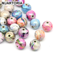 300PCs Random Mixed Acrylic Beads For Jewelry Making Colorful Ball Spacer Beads 8mm DIY Jewelry Findings Fit Bracelet Necklace