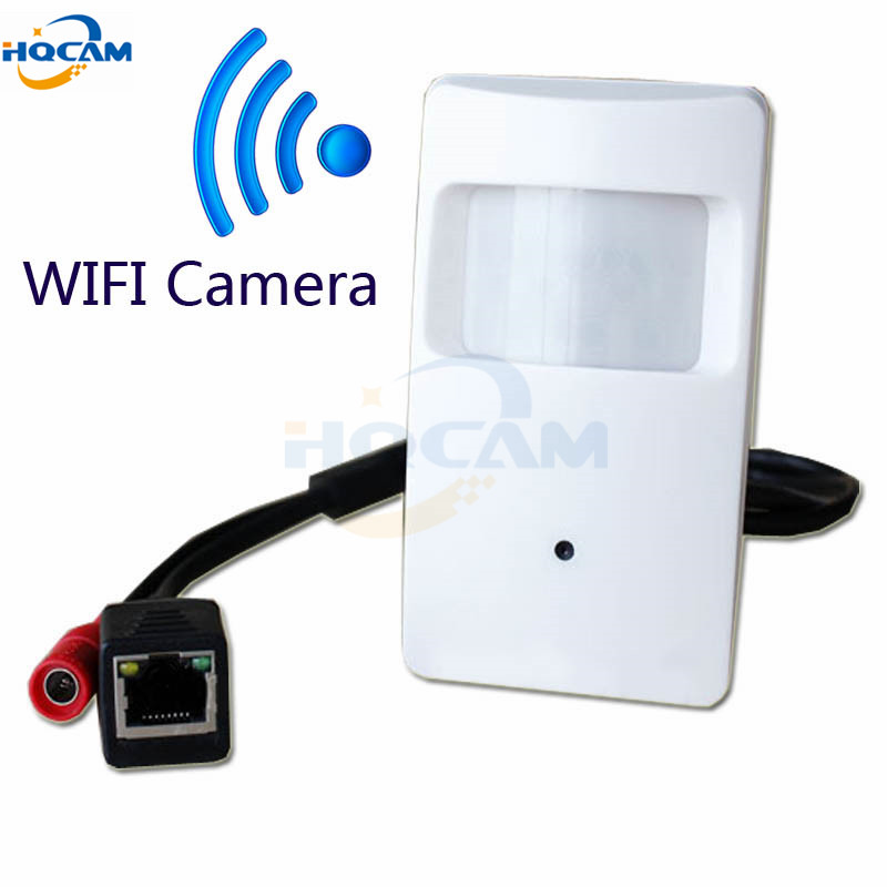 HQCAM 720P WIFI mini IP camera with WIFI port Camera Motion Detector HD PIR STYL Wireless IP Camera P2P Function Security CAMERA<br>