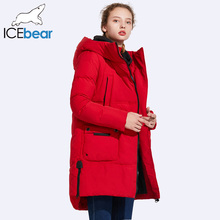 ICEbear 2017 Women's Winter Medium Length Thick Large Pocket Winetr Jacket Women Windproof Stand Collar Cotton Coat 17G670(China)