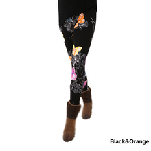 A29fashion womens bottoms high elastic pants capris comfortable plus leggings american style popular print free shipping xxxxxl(China)