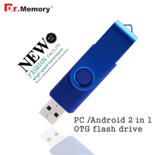 2 in 1 OTG USB flash drive 64GB pen drive for smart phones tablet real capacity pen drive 32gb OEM USB stick 16gb USB 8gb u disk(China)