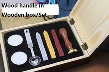 Customized wax seal Twilight/Greetings/Harry Potter 26 Letters alphets Stamp in Wooden Box,Retro Sealing Wax set,Deluxe Gift(China)