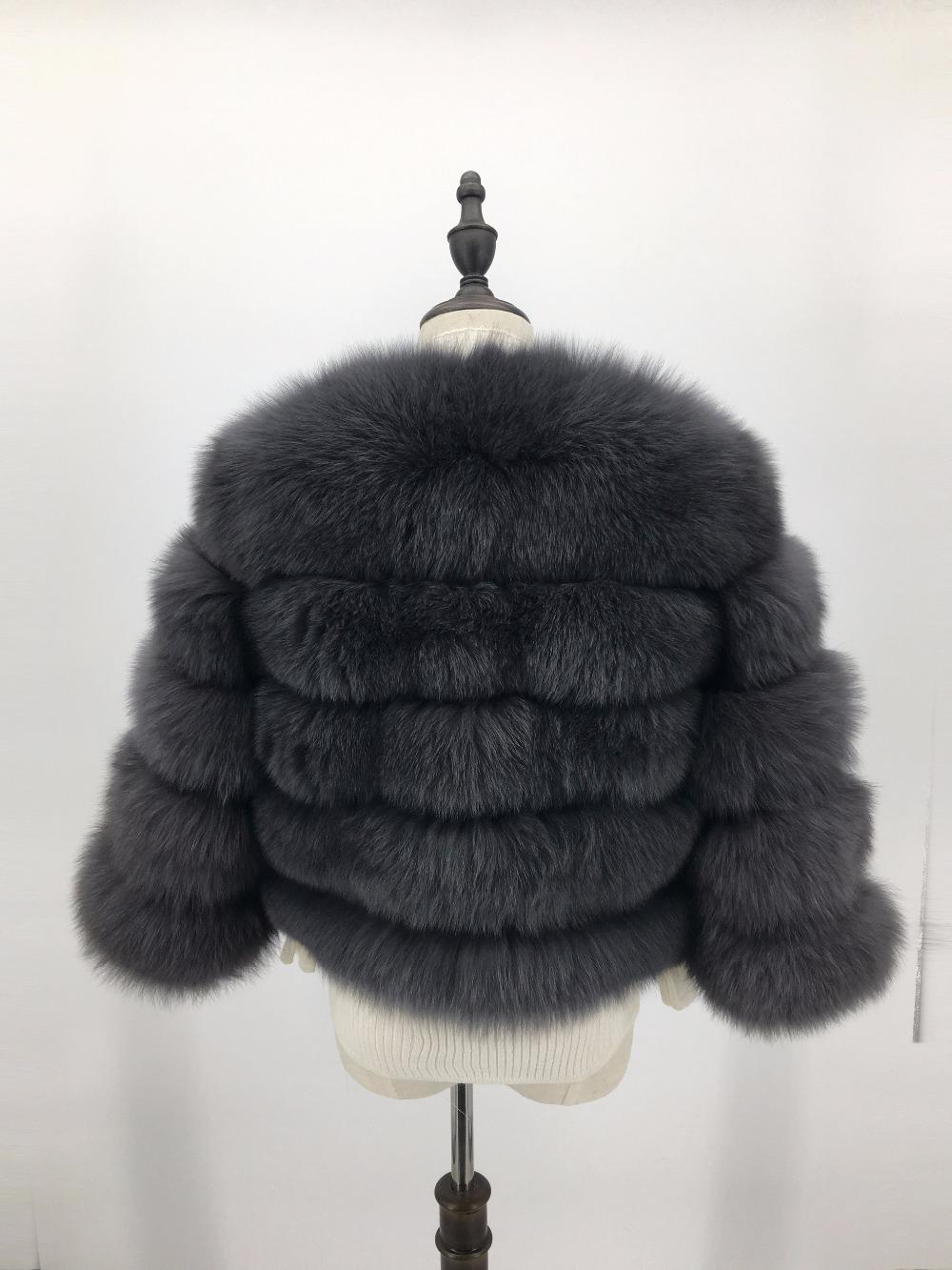 2 grey fur coats