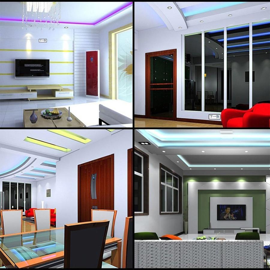 LED Strip Light RGB 5050 SMD 60led/M Waterproof RGB LED Tape Light emitting diode LED Lamp Ribbon RGB Strip Controller Full Set