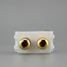 Golden Painting Hifi Speaker Banana Posts Left Right Channel Audio Plug Socket Cheap Price