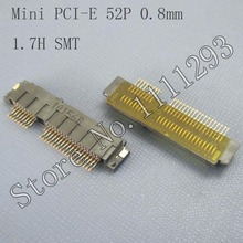 5pcs/lot Mini PCI-E 52P , 0.8mm , 1.7H SMT Connector for Asus Eee PC 1001PX 1101HA 1210T 1215T motherboard