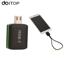 DOITOP Mini OTG ISDB-T TV Tuner Receiver Portable Micro USB HD TV Digital Mobile Live TV Universal for Android Mobilephones/Pad(China)