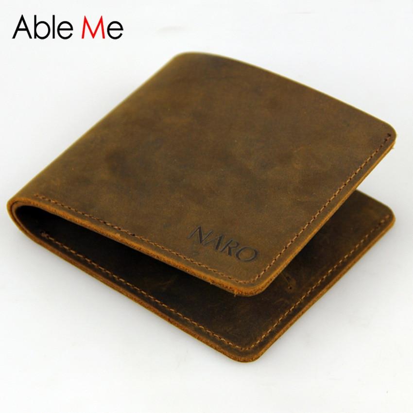 New Design Leather Wallet For Men Gift Handmade 11.5*9.5cm Short Slim Elegant Small Capacity Retro Mini Purse Male <br><br>Aliexpress