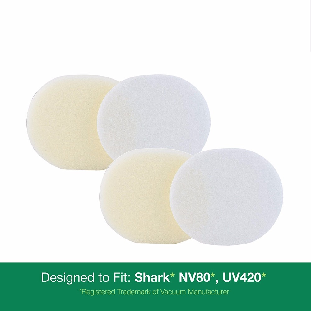 2 - Shark NV80 Foam & Felt Filter Kits, Part # XFF80. Designed to fit Shark Navigator Pro Upright Vacuum Models NV(China)