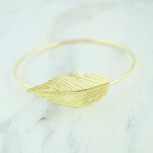 Fashion accessories jewelry leaf bangle gift  for women girl B3361