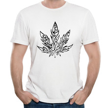 Hot Sale Giant Psychedelic Pot Leaf Men's T shirt Short Sleeve street Men's Casual Tees(China)