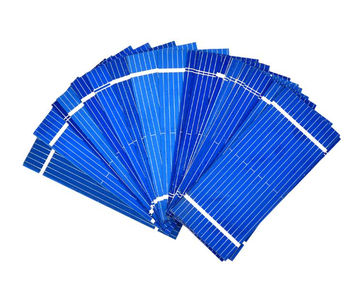 Aoshike 100pcs Mini Solar Panel 52 * 22mm Polycrystalline Silicon Solar panels 0.19w 0.5v/DIY Cell Phone Charging Battery 7