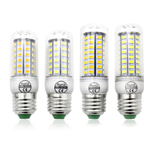 E14 E27 B22 G9 GU10 LED Lamp SMD 5730 LED Light Corn Led Bulb 24 36 48 56 69 72Leds 220V 230V Chandelier Candle Home Lighting(China)
