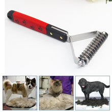 Pet Rake Comb 13 Cutter Big Pet Dog Cat Hair Grooming Rake Comb Stainless steel pins + ABS Handle Trimmer Brush