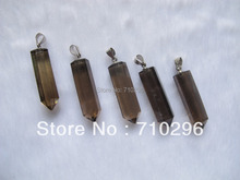 wholesale 20pcs/lot Natural Smok y Quartz Crystal Point Pendants 9x30mm fashion jewelry necklace Pendant