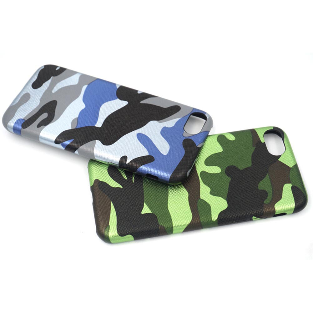 FacnyQbue Phone Case for iPhone 6 6s 7 8 Plus  PU Army Camo Camouflage Back cover