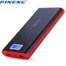 Original PINENG PN-920 20000mAh Power Bank Dual USB Charging External Battery Charger with LCD Flashlight for Mobile Phone(China)