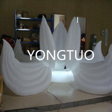 LED lighting giant fabric inflatable flower for wedding decoration(5m)
