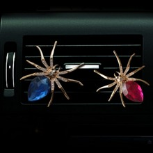 IT IS MY CAR air freshener outlet shining diamond spider Creative perfume lovely cool styling IT IS EXPENSIVE