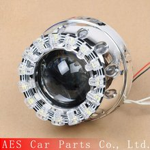 Best Selling 2.5 Inch Mini Bi LED Projector Lens LED Double Angel Eyes Projector Lens H4 H7 Headlamp