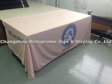Free shipping8 ' ,  three sided Table cloth, table cover, table throws with customs LOGO printing,