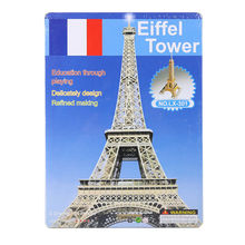 3D Paper KT jigsaw puzzles for children adults Games for kids toys for children Baby toys educational Puzles Eiffel Tower 34 pcs(China)