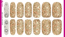 Water Transfer Shing Bling 3D Pink Diamond Design Nails Stickers Manicure Styling Tools Water Film Paper Decals