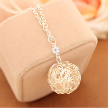 NK148 Fashion Boho Punk Vintage Personalized Woven bijoux Hollow Ball Pendant Chain Necklaces Jewelry Wholesale mujer collier(China)