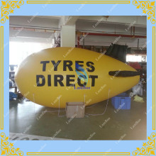 4m/13ft Adverizing Yellow Inflatable Airship,Inflatable Blimp with your LOGO,Inflatable Zeppelin for Different Events
