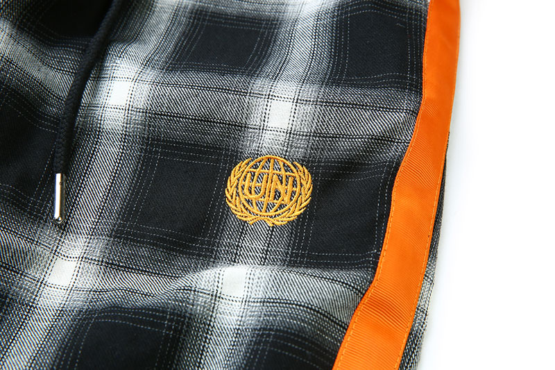 Side Ribbon Plaid Pants 10