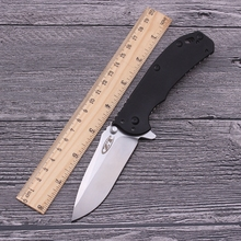 ZT 0566 60HRC D2 blade G10+Steel handle tactical folding knife Ball bearing system hunting outdoors utility edc tool