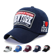 Casual Adjustable Cotton Hat Snapback Outdoor Sports Print I Love USA Letter NEW YORK Gorras Hip Hop Men Women NY Baseball Cap(China)