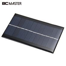BCMaster 4 pieces Mini 6V 1W Solar Power Panel Bank DIY Home Solar System For Battery Cell Phone Chargers Portable Solar Panel(China)