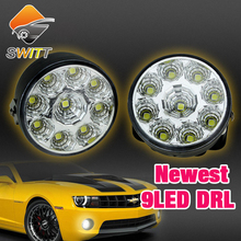 2015 newest super white 2pcs 9LED Work Light source 4WD SUV tractor track flood lamp off road light 12V headlight fog Auto DRL