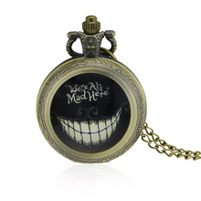Pocket Watch Zinc Alloy with Glass Flat Round antique bronze color plated decal lead & cadmium free 40-50mm Sold By PC(China)