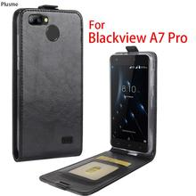 For Blackview A7 Pro Case Luxury PU Leather Flip Case Cover For Blackview A7Pro Case Vertical Open down up Back Cover wholesale(China)