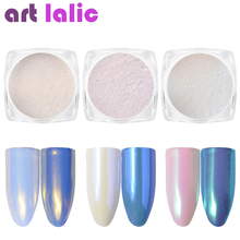 Artlalic 1 Box 0.2g Shining Pearl Nail Glitter Shimmer Decoration Mirror Chameleon Neon Dust Power Mermaid Manicure 3 Colors(China)