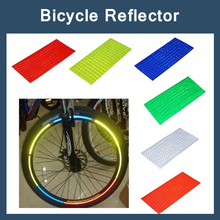 8pcs/pack Reflective Stickers Bike Bisiklet Aksesuar Bicycle stickers Bike Cycling Security Wheel Rim Decal Tape Safer velo(China)