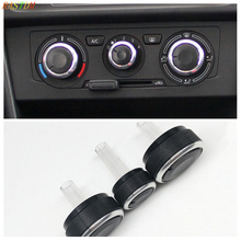 3PCS FIT FOR SKODA SUPERB OCTAVIA MK1 SWITCH KNOB KNOBS HEATER CLIMATE CONTROL BUTTONS DIALS FRAME RING A/C AIR CON ACCESSORIES